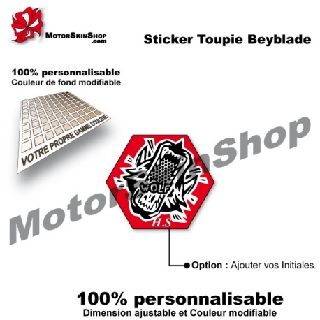 Sticker toupie Beyblade Dark Wolf