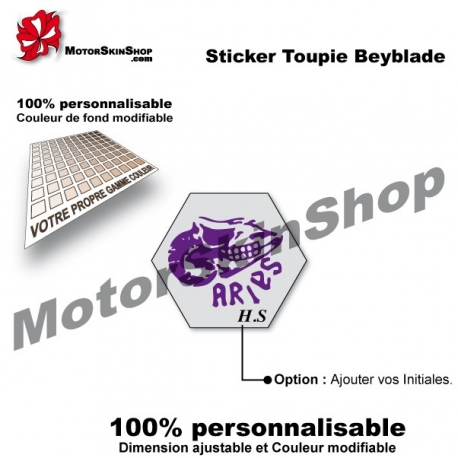 Sticker toupie Beyblade Roch Aries