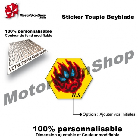 Sticker toupie Beyblade Orion Fantome