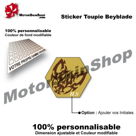 Sticker toupie Beyblade Beat Lynx