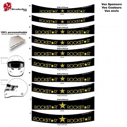 Sticker pare soleil casque Karting Rock Star