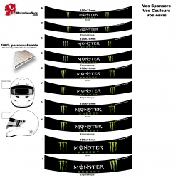 Sticker pare soleil casque Karting Monster Energy