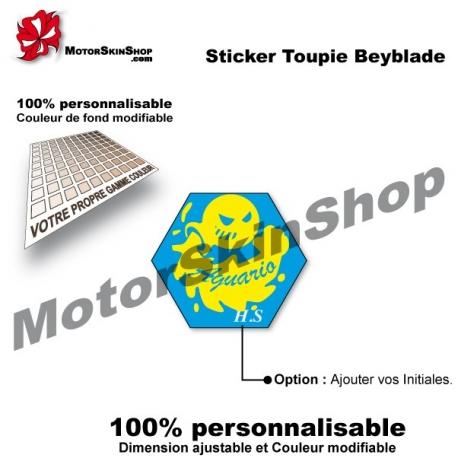 Sticker toupie Beyblade Storm Aquario