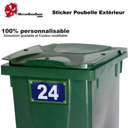 Sticker poubelle extérieur