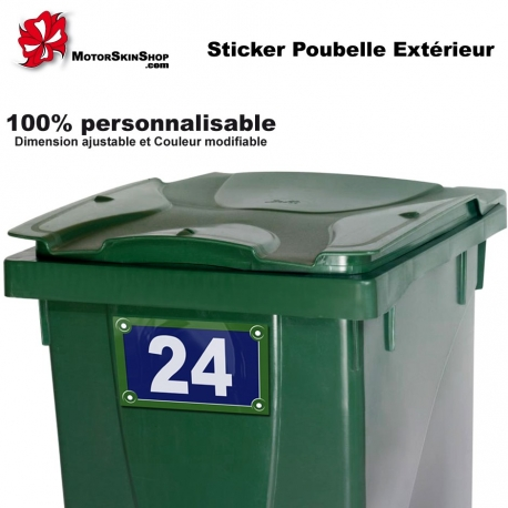 Sticker poubelle ext rieur for Stickers exterieur personnalise