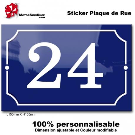 Sticker Numéro de Rue