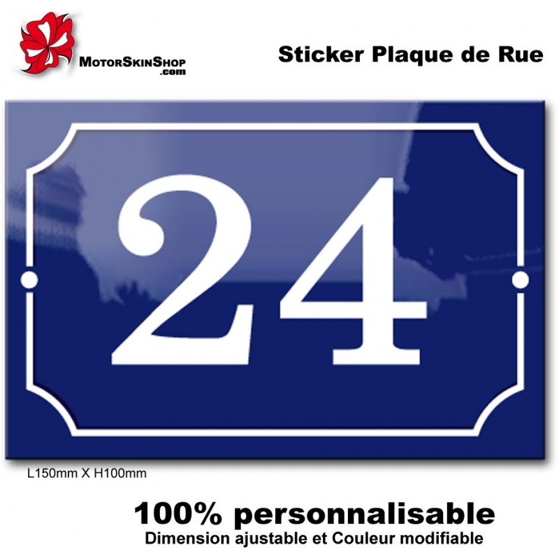 sticker numero de rue paris. Black Bedroom Furniture Sets. Home Design Ideas