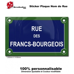Sticker Plaque de Rue Paris