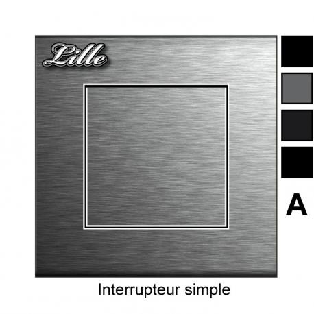 Sticker prise Métal interrupteur universel