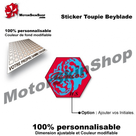 Sticker toupie Beyblade Evil Gemios