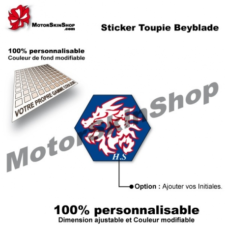 Sticker toupie Beyblade Destructor l'drago