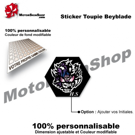 Sticker toupie Beyblade Diablo Nemesis