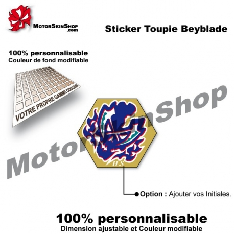 Sticker toupie Beyblade Site Chronos