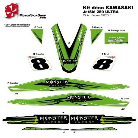 Kit déco Jet Ski 250 Ultra Kawasaki