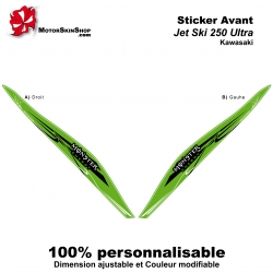 Sticker avant 250 Ultra Kawasaki