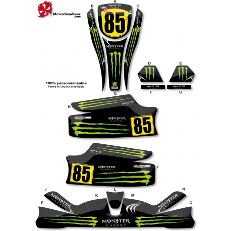 Kit déco Karting KG Unico Monster Energy
