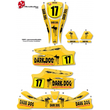 Kit déco Karting KG Unico Dark Dog