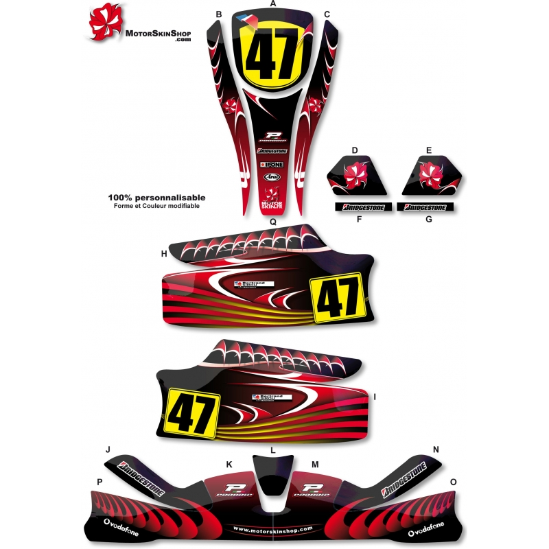 Kit d co karting kg unico rouge for Deco karting