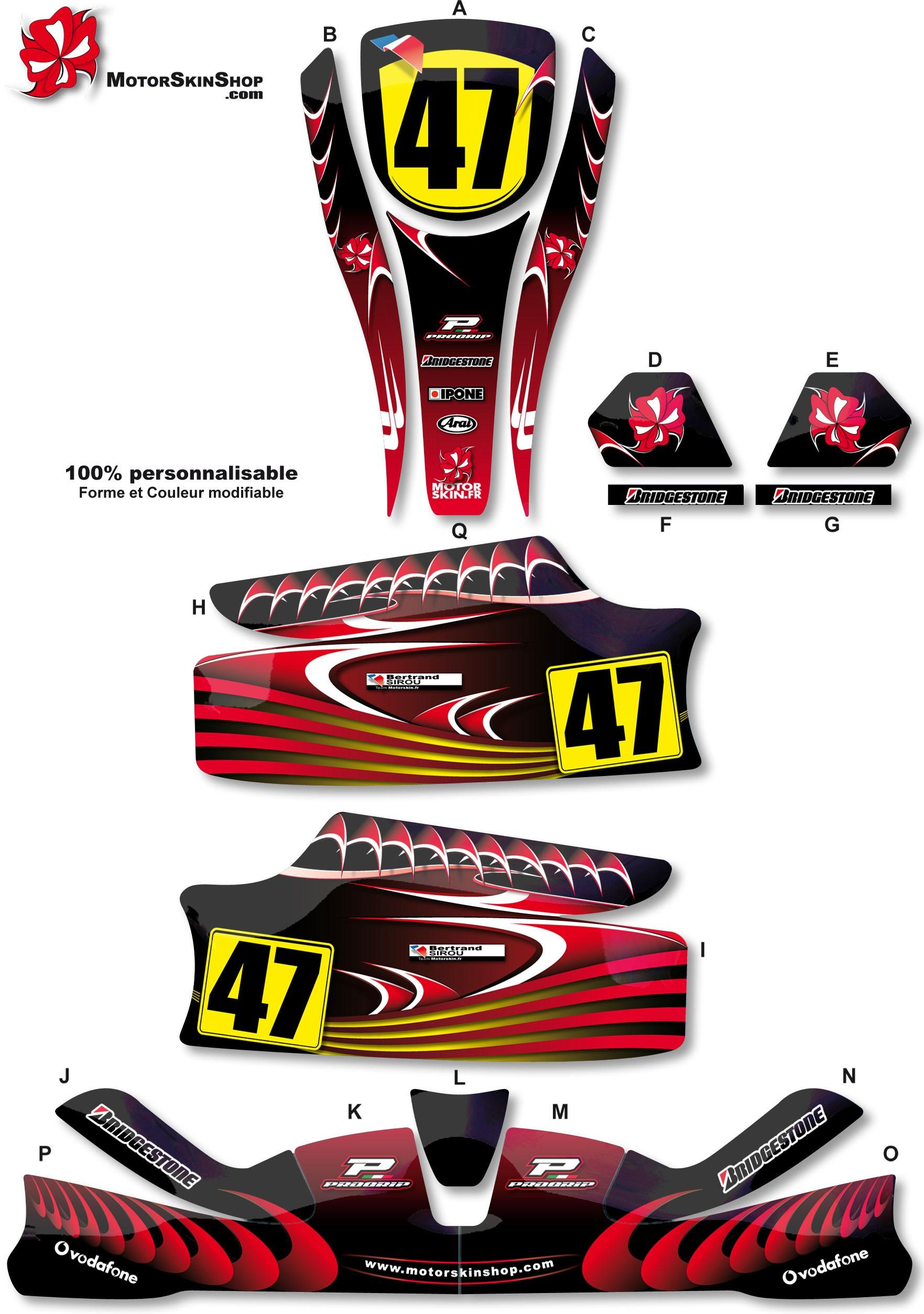 Kit déco Karting KG Unico Rouge