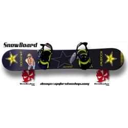 Sticker SnowBoard étoile personnalisable