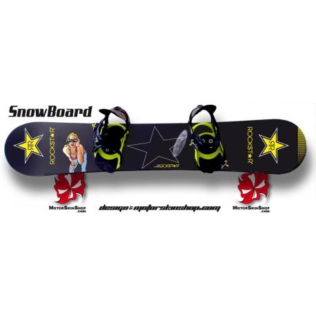 Sticker SnowBoard RockStar personnalisable