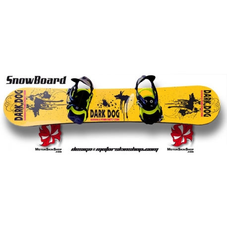 Sticker SnowBoard Dark Dog personnalisable