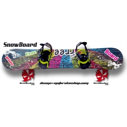 Sticker SnowBoard Free personnalisable