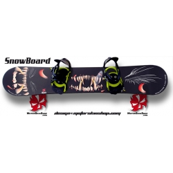 Sticker SnowBoard Monstre personnalisable