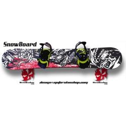 Sticker SnowBoard Tête de Mort personnalisable