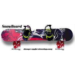 Sticker SnowBoard Femme nue personnalisable