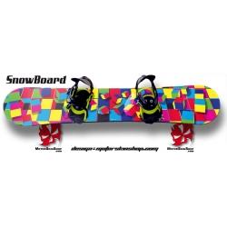 Sticker SnowBoard Géométrique personnalisable