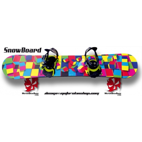 Sticker SnowBoard personnalisable