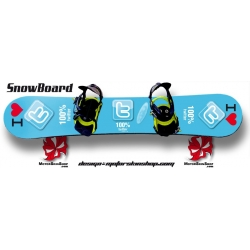 Sticker SnowBoard Twitter personnalisable