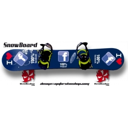 Sticker SnowBoard Facebook personnalisable