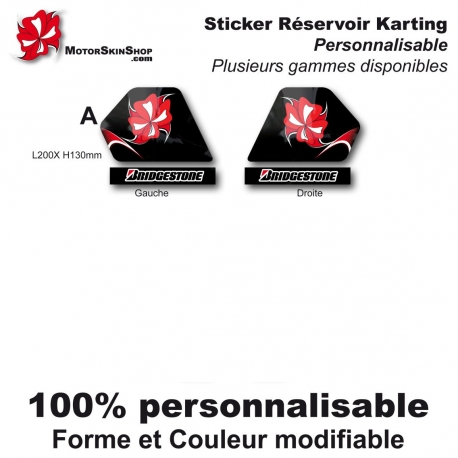 Sticker réservoir Karting
