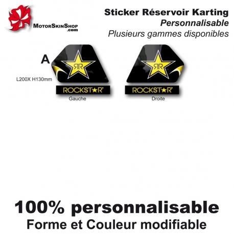 Sticker réservoir Karting RockStar