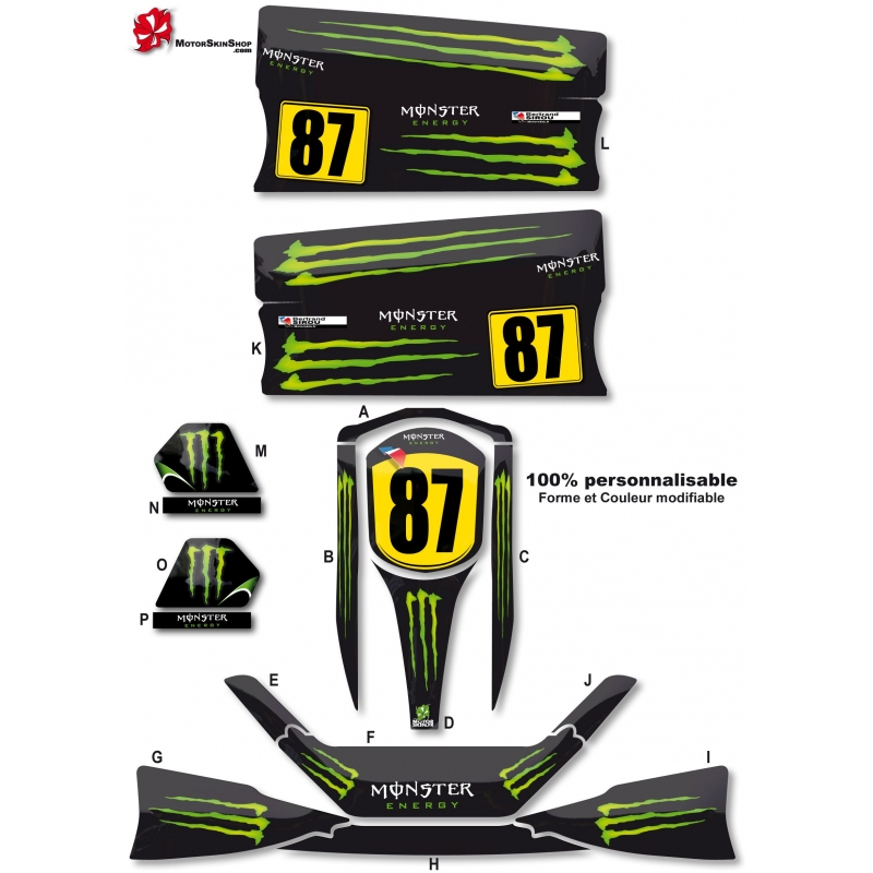 Kit d co karting standard monster energy for Deco karting