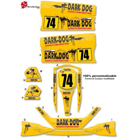 Kit déco Karting Standard Dark Dog