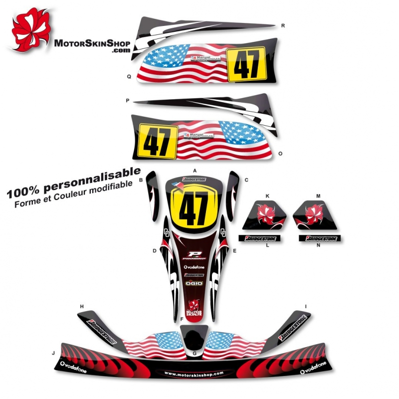 Kit d co karting crg personnalisable for Deco karting