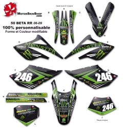 Kit déco 50 Beta RR 06-09 Monster Energy