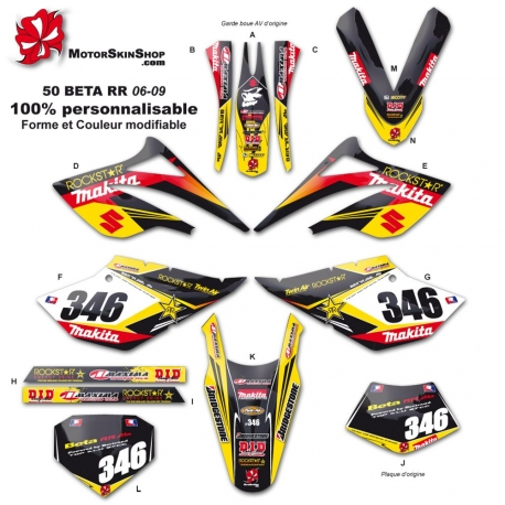 Kit déco 50 Beta suzuki RR 06-09