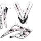 Kit déco 50 Beta RR 06-09 Noir et Blanc