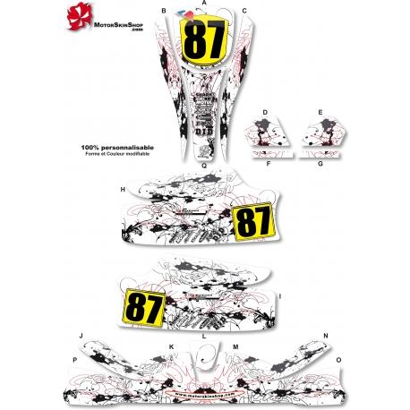 Kit déco Karting KG Unico noir et blanc