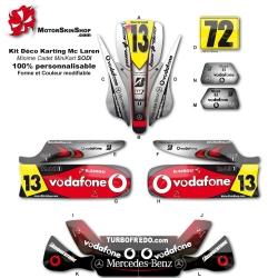 Kit déco Karting minime cadet Mc Laren F1