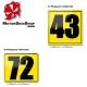 Plaque Numéro Latérale Karting