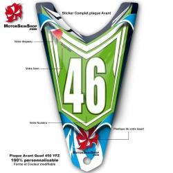 Plaque Numéro Avant Quad YFZ Yamaha