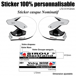 Sticker casque Quad nominatif