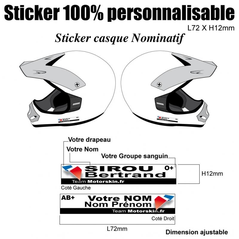 sticker casque quad nominatif. Black Bedroom Furniture Sets. Home Design Ideas