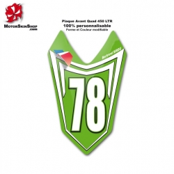 Plaque Numéro Avant LTR Quad Suzuki