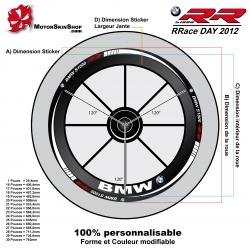 Sticker jante Moto Sportive BMW